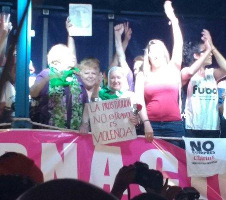 Nora Cortiñas y Margarita Meira La prostitución no es trabajo, es violencia