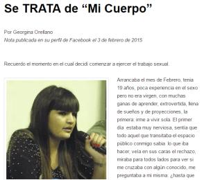 Georgina Orellano Se trata de Mi Cuerpo