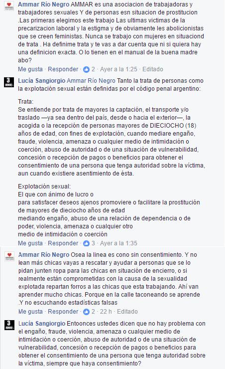 Diálogo Facebook Ammar Río Negro