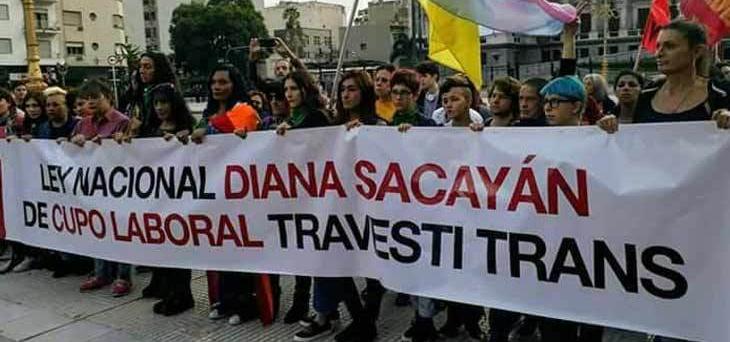 Las Empoderadas: Por una ley nacional Diana Sacayán de cupo laboraltravesti-trans