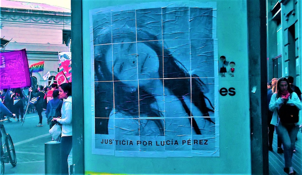 Second National Women's Strike in Argentina: for Lucía Pérez and against the Patriarchal Judicial Power.
